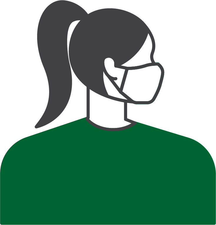 Graphic of a woman wearing a mask