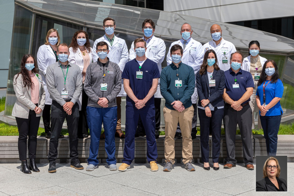 On March 9, 2020, a multidisciplinary team of ED physicians, nurses and leadership met to design the workflow and physical layout that would be needed in order to keep staff and patients safe in light of the impending COVID-19 pandemic.