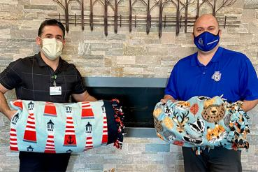 Students donate blankets to Waterford Place