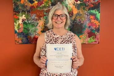 Judy Siek earns certfication