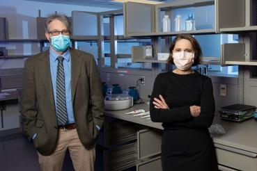Stefan Green, PhD, and Mary Hayden, MD, in Rush's new lab site