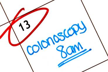 Colonoscopy appointment on calendar