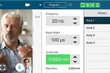 App showing telemedicine interaction