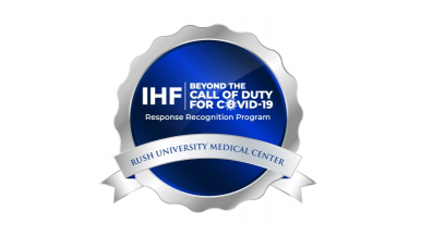 IHF COVID-19 response badge